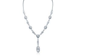 Fancy Sterling Silver 16/18-inch Adjustable Cubic Zirconia Chain  By Shin Brothers Jewelers Inc.83010792