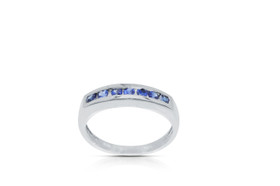 14k white gold Sapphire Gemstone Ring By Shin Brothers Jewelers Inc.12002588