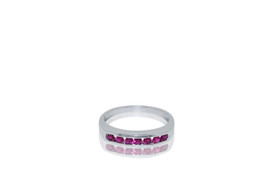14k white gold Ruby Gemstone Ring 12002586