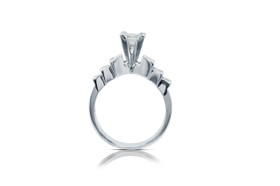 14K White gold Diamond Engagement Ring 11005454
