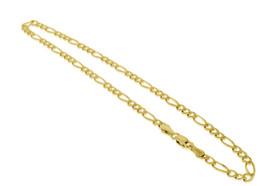 "14K Two Tone Gold Figaro 11"" Anklet Bracelet 20001427"