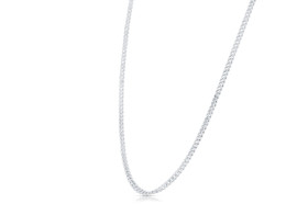 14K White Gold Cubin Chain 30001905