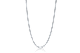 "14K White Gold 16"" Double Strand Cable Chain  30001534"