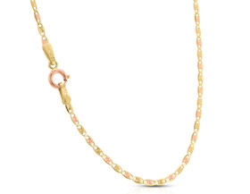 14K Tri-color Gold Fancy Mariner Link Chain 30002713-E