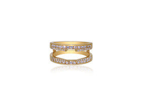 14K Yellow Gold Diamond Insert Ring