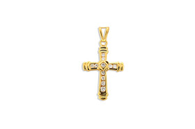 14K Yellow Gold .25 Carat Diamond Cross Charm 51001830
