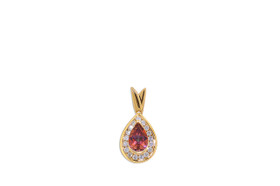 14K Yellow Gold Pear Mystic Topaz  Diamond Pendant 52001905