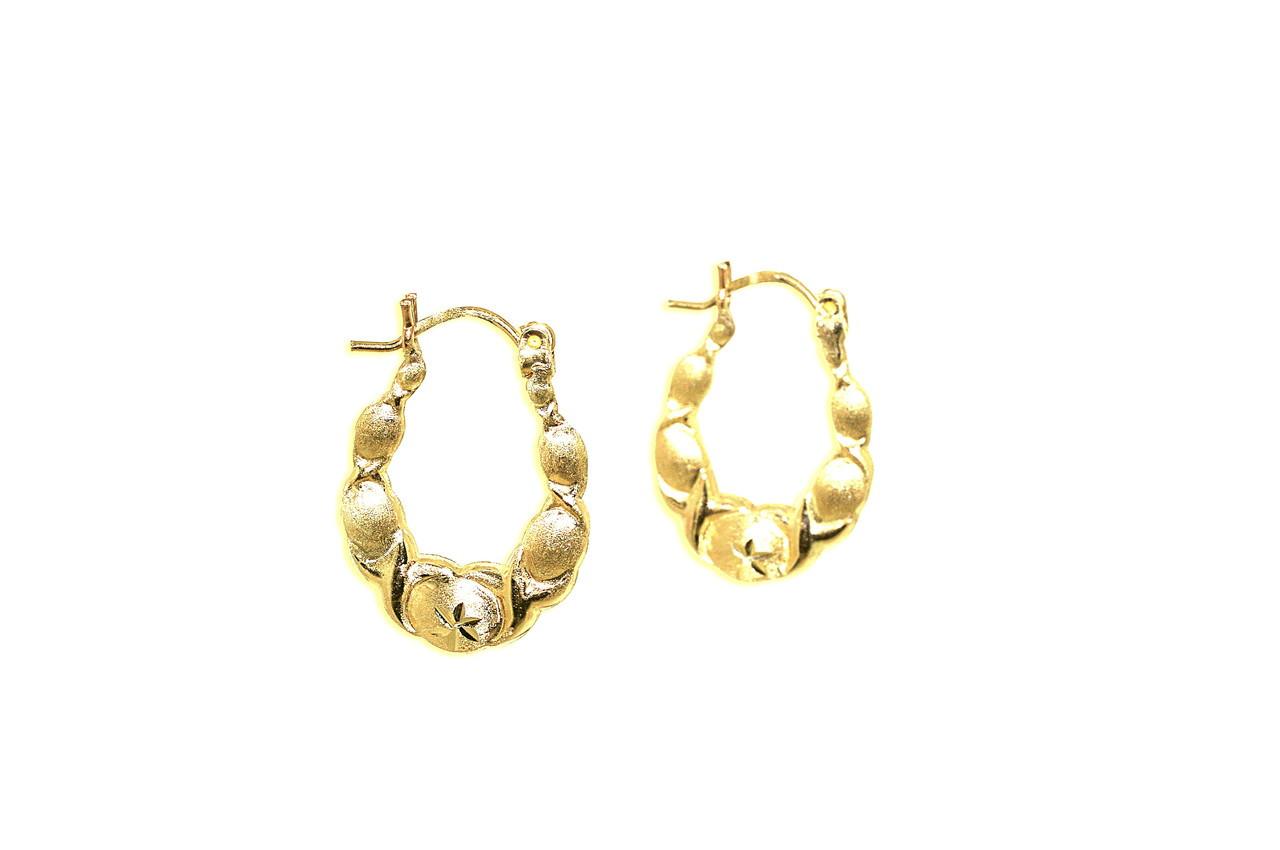 9ad353c8e91 10K Yellow Gold Hugs & Kisses Hoop Earrings 49000141-E