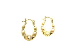 10K Yellow Gold Hugs & Kisses Hoop Earrings 49000141-E