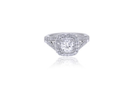 14K White Gold Diamond Engagement Ring 11005595