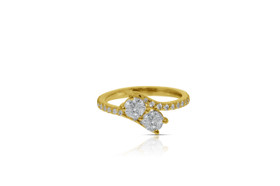 14K Yellow Gold Two Together Diamond Ring 11005626