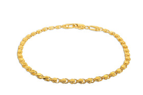 "14K Yellow Gold 7"" Hearts Bracelet 20001430"