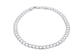 "14K White Gold 8"" Cuban Link Bracelet 20001434"