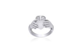 14K White Gold Irish Claddagh Ring 10016190