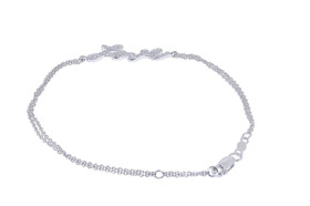 14K White Gold 0.15-carat Love Bracelet