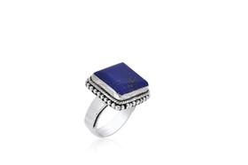 Sterling Silver Unique Lapis Ring  81210141