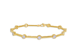 "14K Yellow Gold 7.25""  Bar Bracelet 22000743"