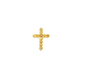 14K Yellow Gold Citrine Cross Charm 52001912