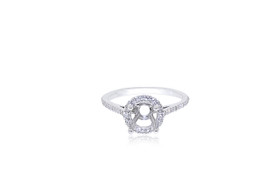 14K White Gold Classic Diamond Engagement Ring Setting 11005697
