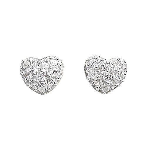 f54d6172e ... Sterling Silver Heart Cubic Zirconia Screw back Post Stud Earrings  84210194. Image 1