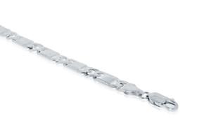 Sterling Silver Fancy Marine Link Bracelet