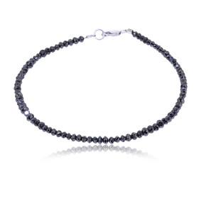 14K White Gold Black Diamond 10 carat 7.25 Inches Bracelet 21000575