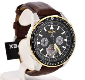 Seiko Men's Prospex Solar Leather Band Watch SSC632