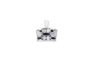 Silver In Lay Onyx Mother of Pearl Charm