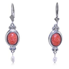 Sterling Silver Jasper Drop Leverback Earrings 84210205