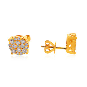 14K Yellow Gold 0.77 carats Diamond Stud Earrings 41002166