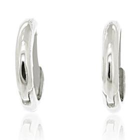 14K White Gold Plain Huggies Earrings 40002361