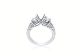 18K White Gold Fancy Diamond Engagement Setting Ring 11005674