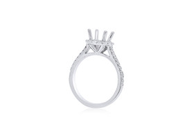 14K White Gold Fancy Diamond Engagement Setting Ring 11005695
