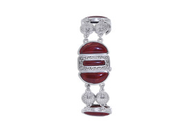 Sterling Silver Red Stone Bracelet 82010633