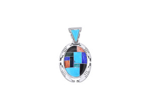 Sterling Silver In Lay Multicolored Charm 85010578