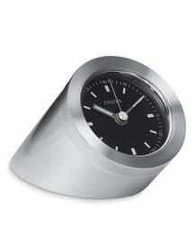 Citizen Workplace Standing Luminescent Clock - Silver-Tone - Black Dial CC1006