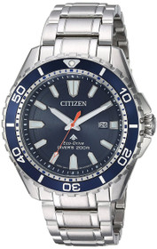 Citizen BN0191-55L Men's Eco Drive Promaster Stainless Steel Blue Dial Watch