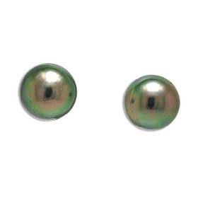 14K Yellow Gold Cultured Pearl Stud Earrings
