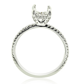 18K White Gold Diamond Engagement Ring Settings 11005825