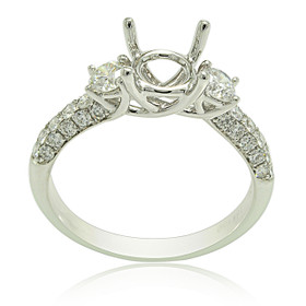 18K White Gold Diamond Engagement Ring Settings 11005796