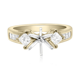 18K Yellow Gold 0.92 ct Diamond Engagement Ring Setting