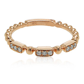 18K Rose Gold Diamond Fancy Band