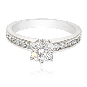 14K White Gold 1 carat Diamond Engagement Ring