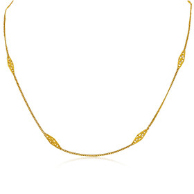 18K Yellow Gold Design by Yard Necklace