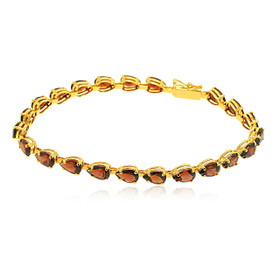 14K Yellow Gold Garnet Bracelet 22000767