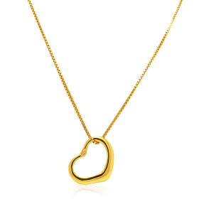 14K Yellow Gold Floating Heart Charm 50003307