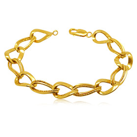 14K Yellow Gold Light Figaro Bracelet
