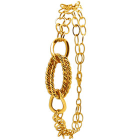 14K Yellow Gold Fancy Link Bracelet 20001526