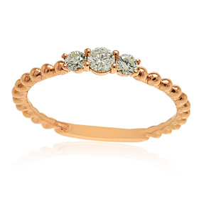 18K Rose Gold Diamond Band Ring 11005800