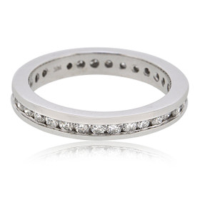 18K White Gold Diamond Eternity Wedding Band 11005874